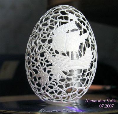 Різьба по яєчній шкаралупі - 4
