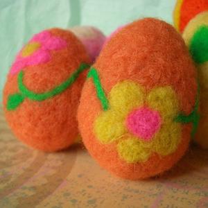 Яйця в техніці валяння для пасхального декорування - 2