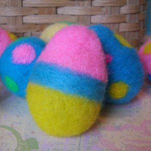 Яйця в техніці валяння для пасхального декорування - 3