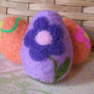 Яйця в техніці валяння для пасхального декорування - 5