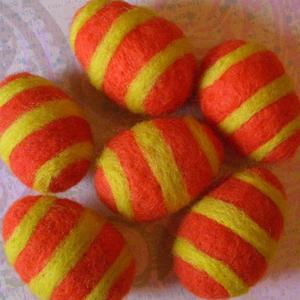 Яйця в техніці валяння для пасхального декорування - 6