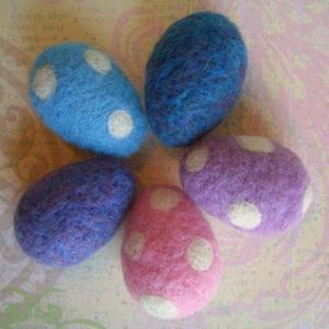 Яйця в техніці валяння для пасхального декорування - 7