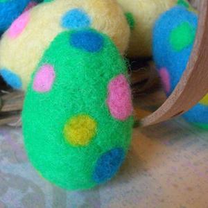 Яйця в техніці валяння для пасхального декорування - 8