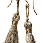 Сережки з ниток