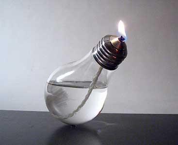 Свічки з лампочок