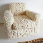 В'язаний чохол для крісла