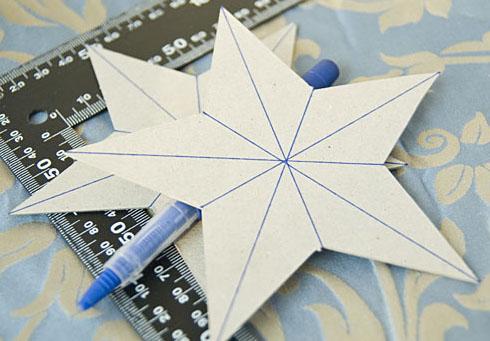 Картонні об'ємні зірки 2
