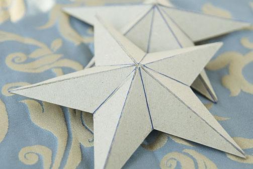 Картонні об'ємні зірки 3