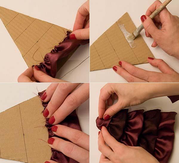 Виготовлення атласної новорічної ялинки