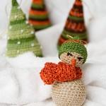 Новорічна прикраса – сніговик