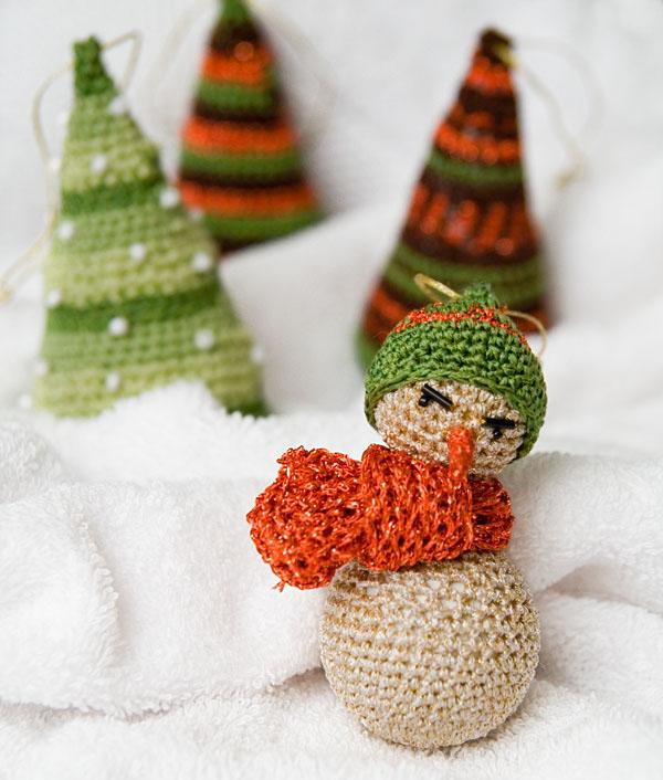 Новорічна прикраса - сніговик