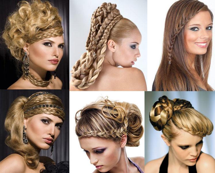 Зачіски з косичками для нового року 2012