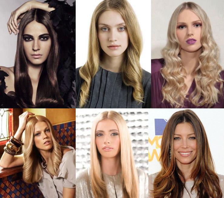 Зачіски на Новий рік 2012 - прямий проділ і доглянуте волосся