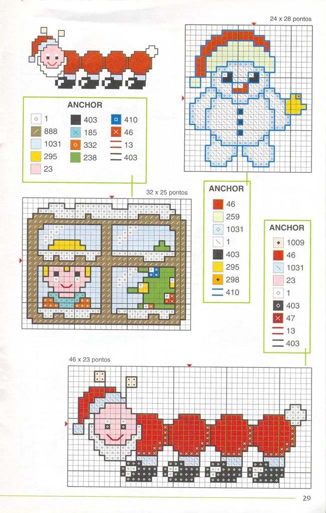 Новорічні схеми для вишивки хрестиком 3