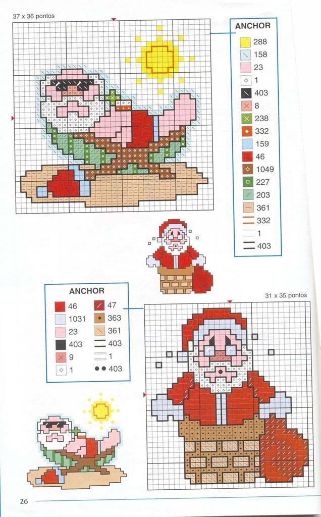 Новорічні схеми для вишивки хрестиком 5