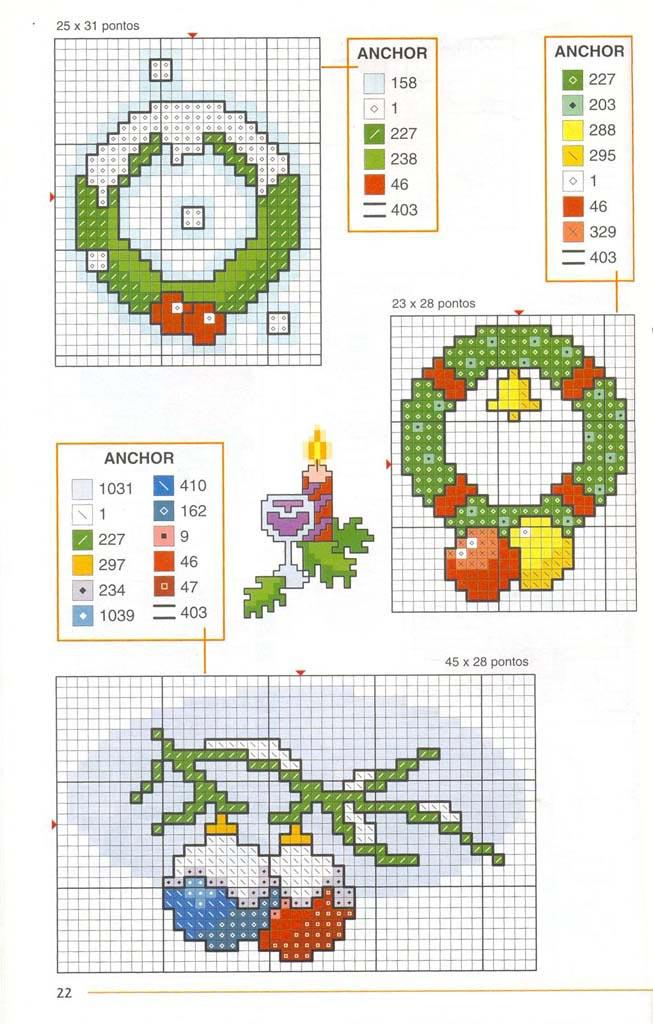 Новорічні схеми для вишивки хрестиком 8