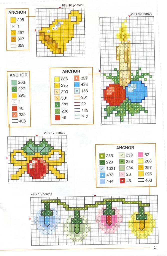 Новорічні схеми для вишивки хрестиком 9
