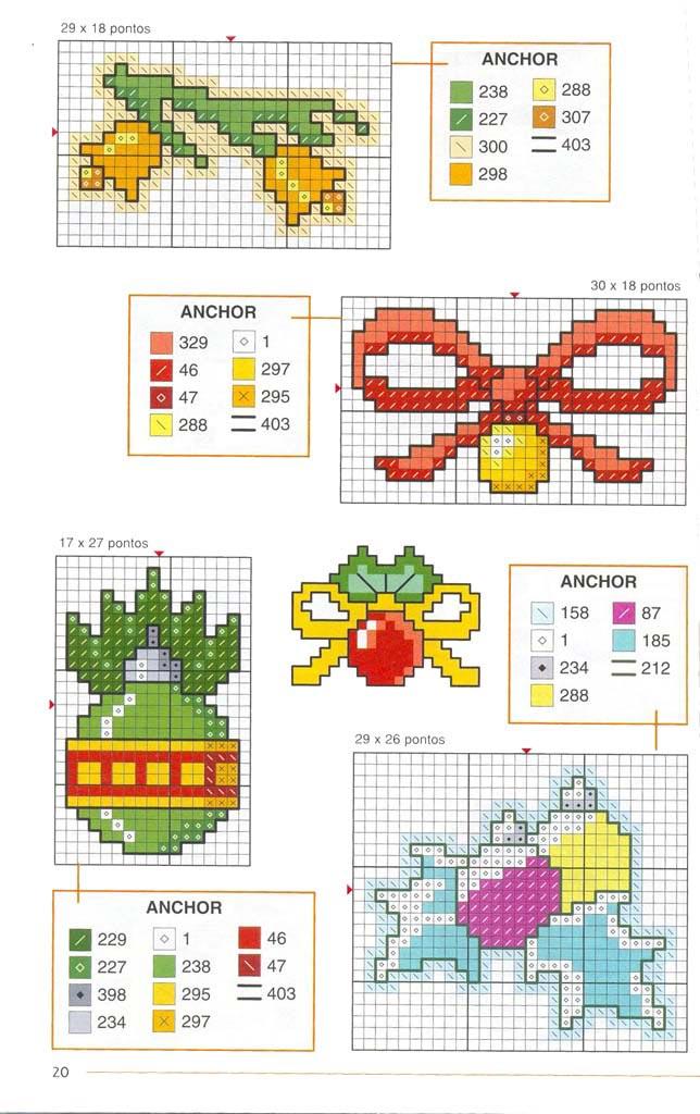Новорічні схеми для вишивки хрестиком 10