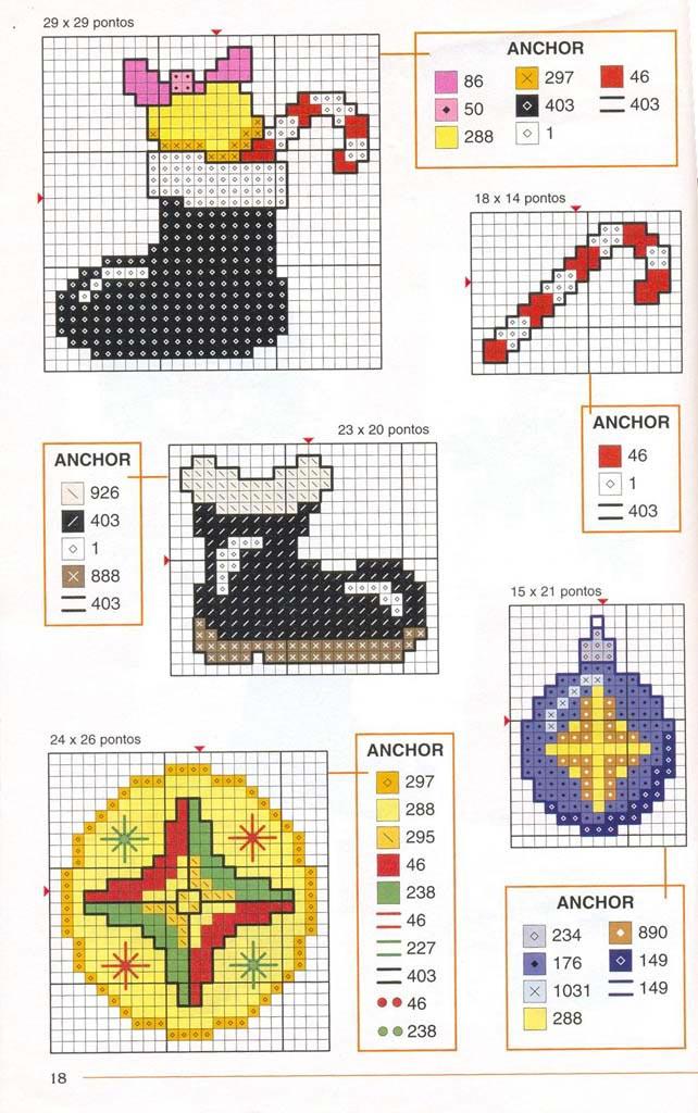 Новорічні схеми для вишивки хрестиком 11
