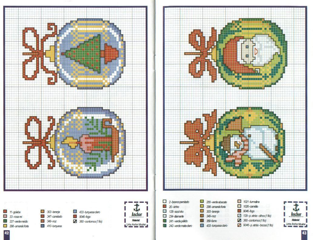 Новорічні схеми для вишивки хрестиком 14