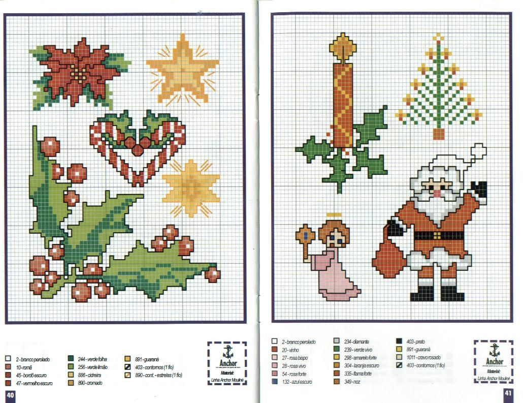 Новорічні схеми для вишивки хрестиком 15