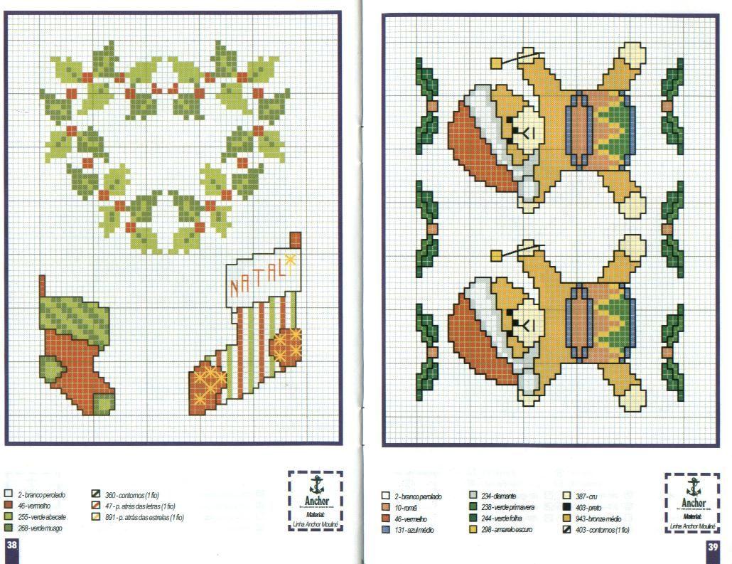 Новорічні схеми для вишивки хрестиком 16
