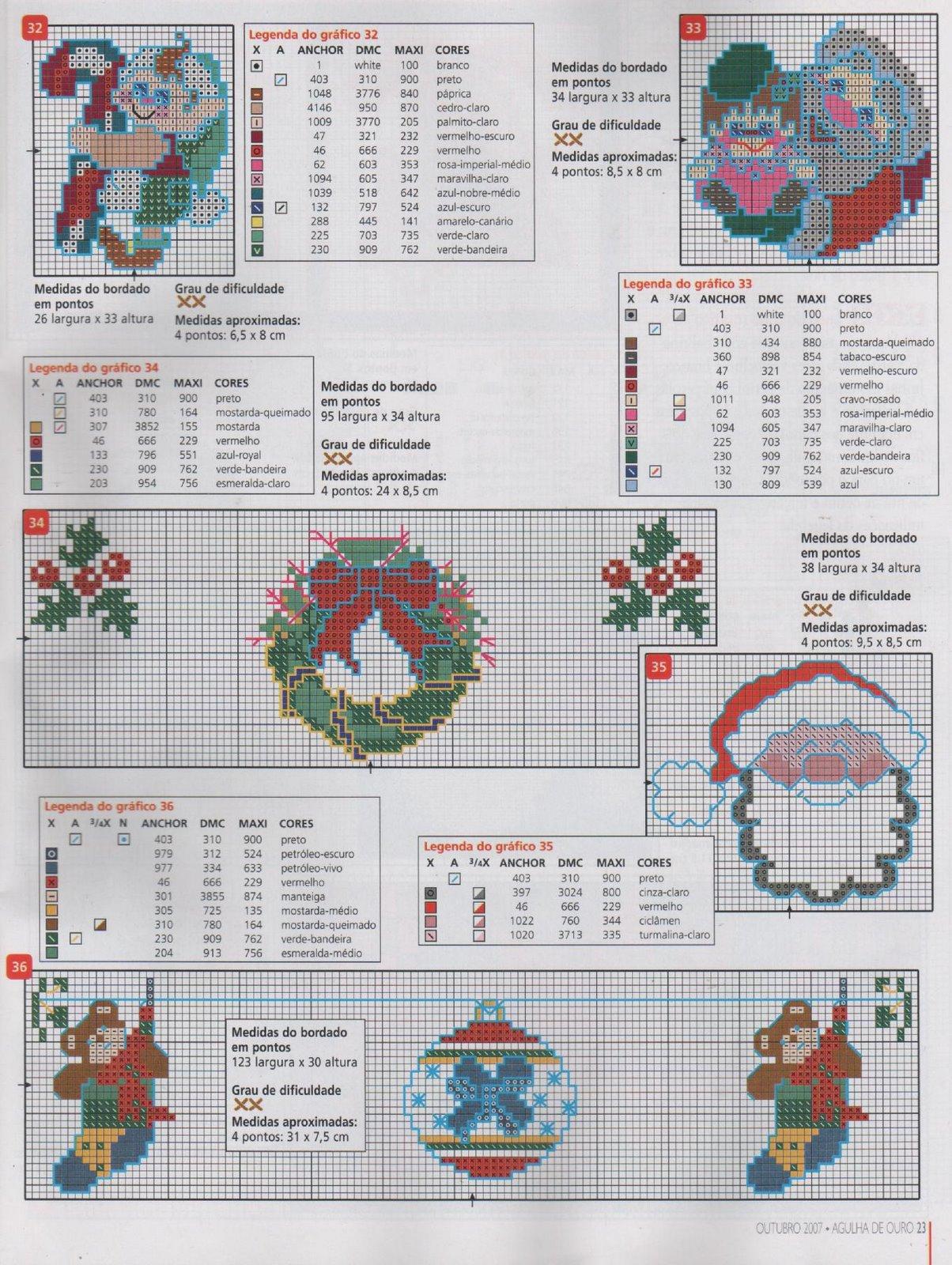 Новорічні схеми для вишивки хрестиком 18