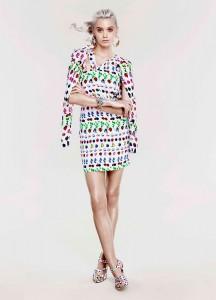 Еббі Лі Кершоу в колекції Cruise від Versace для H&М 2012 (фото 1)
