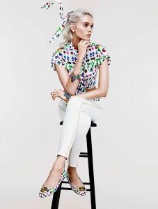 Еббі Лі Кершоу в колекції Cruise від Versace для H&М 2012 (фото 2)