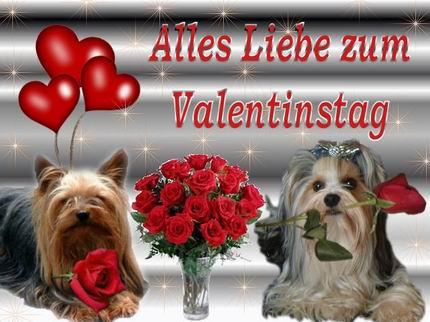 Вітання З Днем Святого Валентина німецькою
