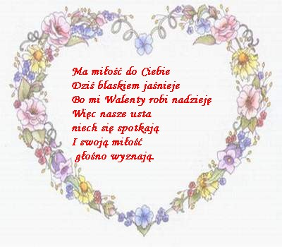Поздоровлення З Днем Святого Валентина польською