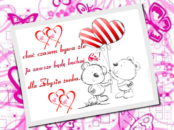 Вітання З Днем Святого Валентина польською