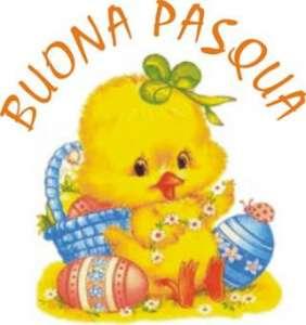 Поздоровлення з Пасхою італійською мовою