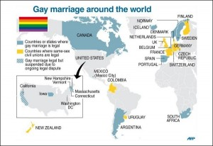 Країни, які визнають одностатеві шлюби