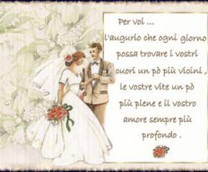 Привітання з весіллям італійською