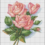 Схеми вишивания хрестиком - квіти