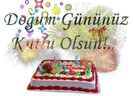 Привітання з днем народження турецькою