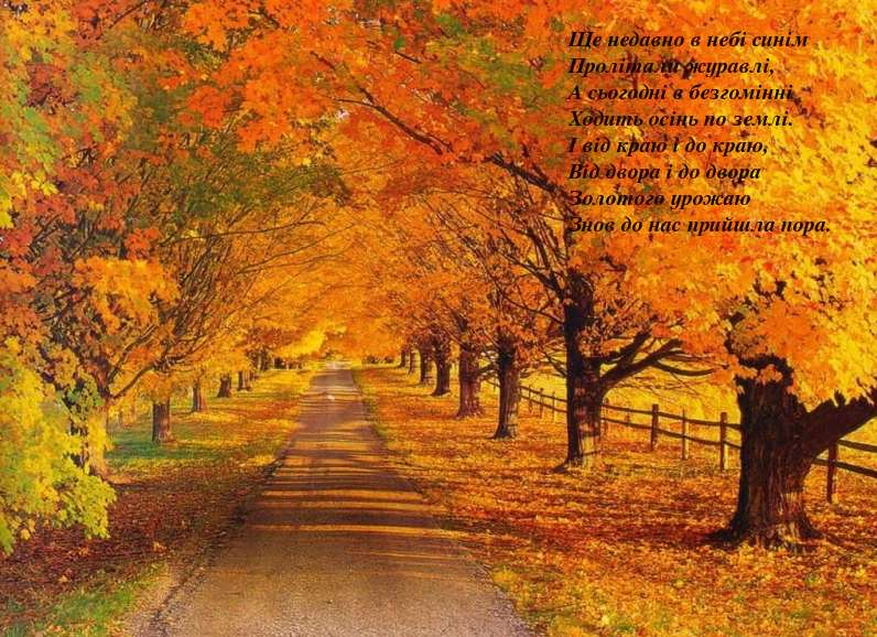 Вірші про осінь