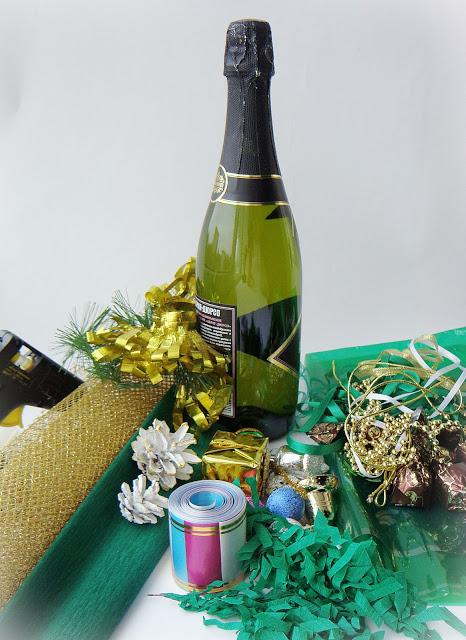 Новорічне декорування пляшки шампанського - фото 2