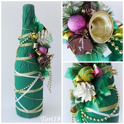 Новорічне декорування пляшки шампанського - фото 7