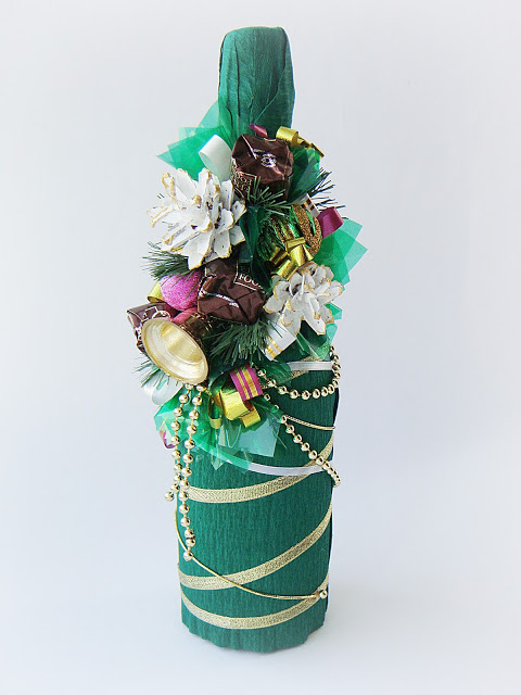 Новорічне декорування пляшки шампанського - фото 8
