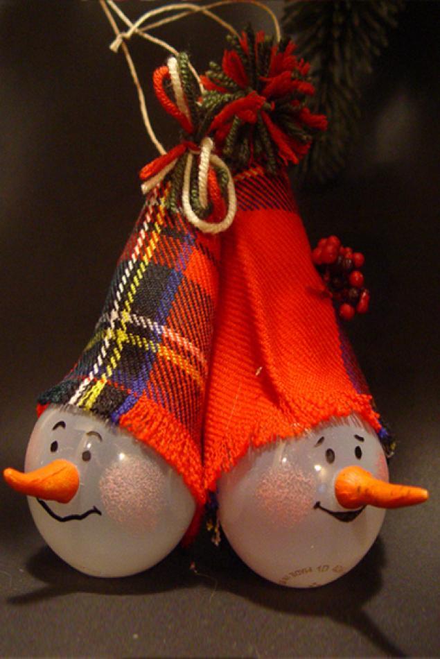 Новорічні іграшки з лампочок - фото 8