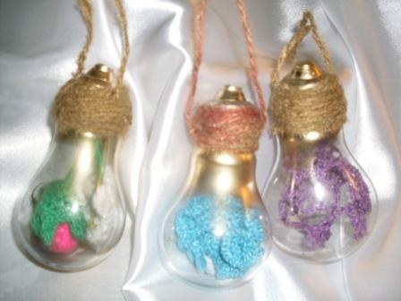 Новорічні іграшки з лампочок - фото 18