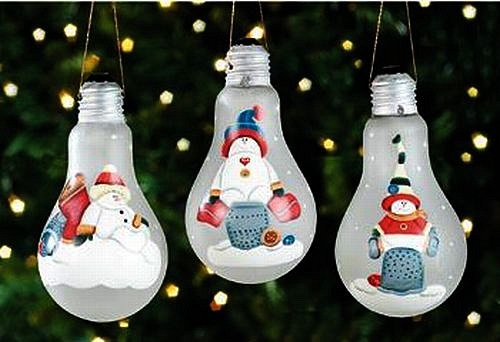 Новорічні іграшки з лампочок - фото 31