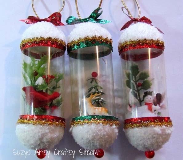 Новорічні іграшки з пластикової пляшки