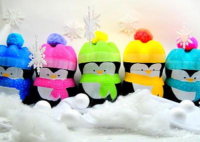 Пінгвіни з пластикових пляшок