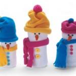 Сніговик з пластикової пляшки