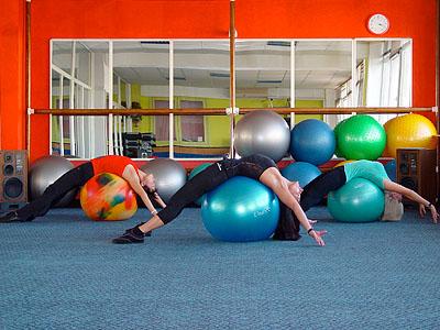 Заняття з гімнастичним м'ячем