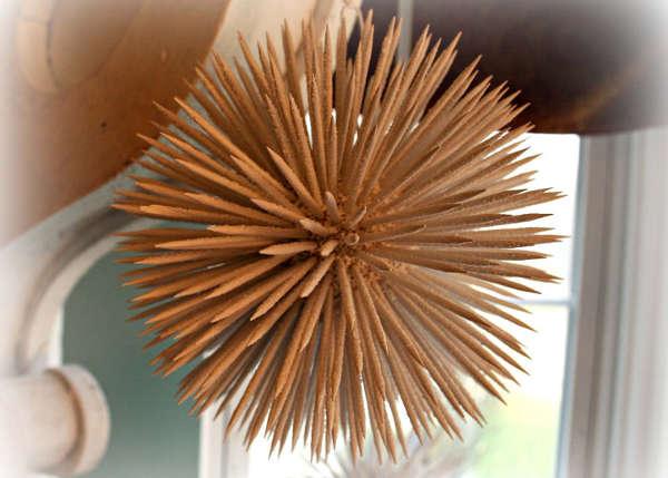 Новорічні кулі із зубочисток - фото 2