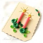 Новорічні листівки в техніці квіллінг